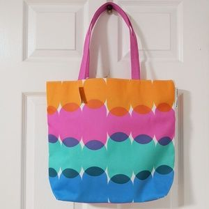 Kapitza for Clinique Tote Bag Orange Pink Blue
